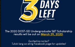 October 2019 DOST Scholarship Exam Result AY 2020-2021 RESULTS OUT March 29, 2020