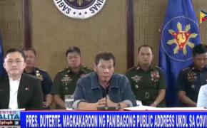 LIVESTREAM: President Rodrigo Duterte to address the public on Monday, March 30, 2020