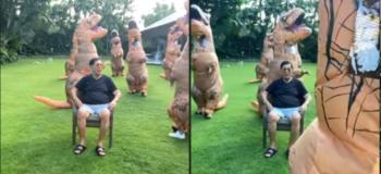 Watch! 69-Year-Old Juan Ponce Enrile Viral TikTok with Dinosaurs