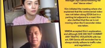 "Kim Chiu ""No Violation"" stated by the MMDA General Manager Jojo Garcia"
