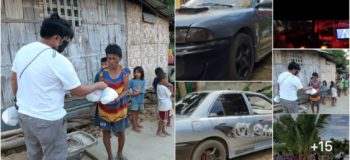 Netizen bartered his own car for relief goods to be given to those who are in need
