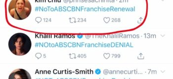 "VIRAL: Actress Kim Chui ""#No to ABS-CBN Franchise Renewal Tweet"" Trends In Social Media"