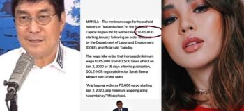"Raffy Tulfo Reacts to Janella Salvador Post ""Kasambahay Salary is 5k"""