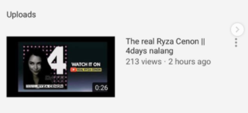 Ryza Cenon's Official YouTube Channel Yet To Be Launced As She Warns Fans Of Poser YouTube Channel