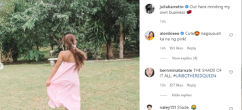 "Is This Julia Barreto's ""Patama"" Post to Kim Chiu After Mentioning her in Its Showtime?"