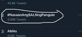 #NasaanAngSALNngPangulo Went Viral on Twitter