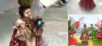 Full Video: Sto. Niño Statue Dancing While Bathing