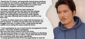 Janno Gibbs Official Statement of Rumors Cursing Kitkat Favia